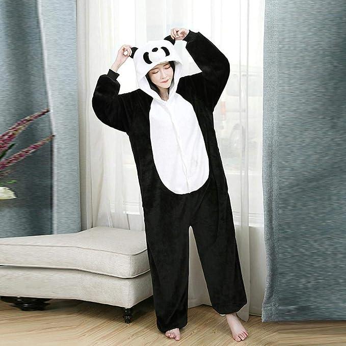 Schildeng - Pijama de Panda de Franela, una Sola Pieza, Unisex ...