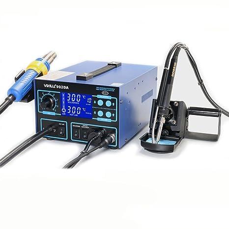 Estación soldadura desoldar soldador aspira Caperuza 992da Control Digital puntas