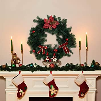 Decoration Not Include Renewed Superday Christmas Garland Festive Holiday D/écorations /Rattan Pine Fireplace Wreath Xmas Decoration Green Tinsel Body Classic Traditional Theme 8.86FT