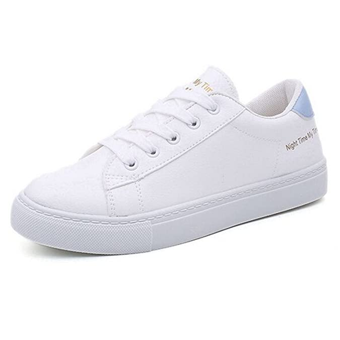 Amazon.com | Feilongzaitianba Women Shoes White Sapatilha Women Casual Shoes Flat Zapatillas Mujer Casual | Flats