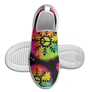 Graffiti Paint Snowflake Peace Men Lightweight Walking Shoes Workout Sneakers