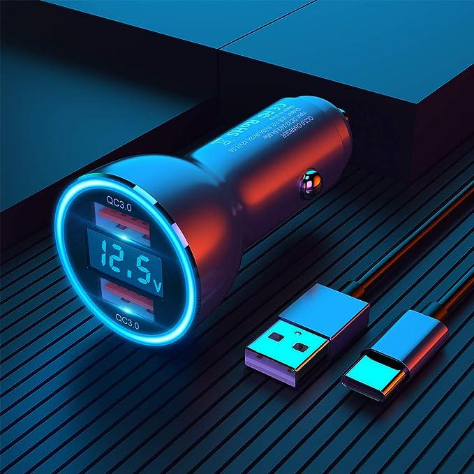 Dual Qc3 0 Usb Auto Ladegerät Kfz Ladegerät Elektronik