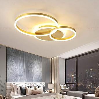 Decken Lampe LED Dimmbar mit Fernbedienung, Groß Wohnzimmerlampe Modern  Deckenleuchte Lichtfarbe/Helligkeit Einstellbar Schlafzimmerlampe Acryl