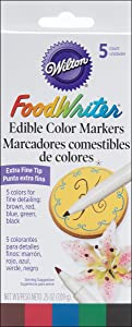 Wilton W609105 Food Writer, Extra-Fine Tip for Edible Color Markers, 0.25-Ounce,Assorted