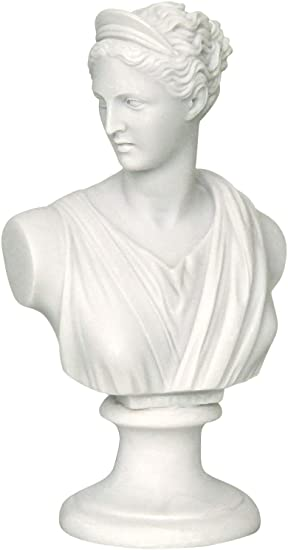GREEK STATUE Estatua de la Diosa Romana y Gris/Artemis/Diana de la Cabeza
