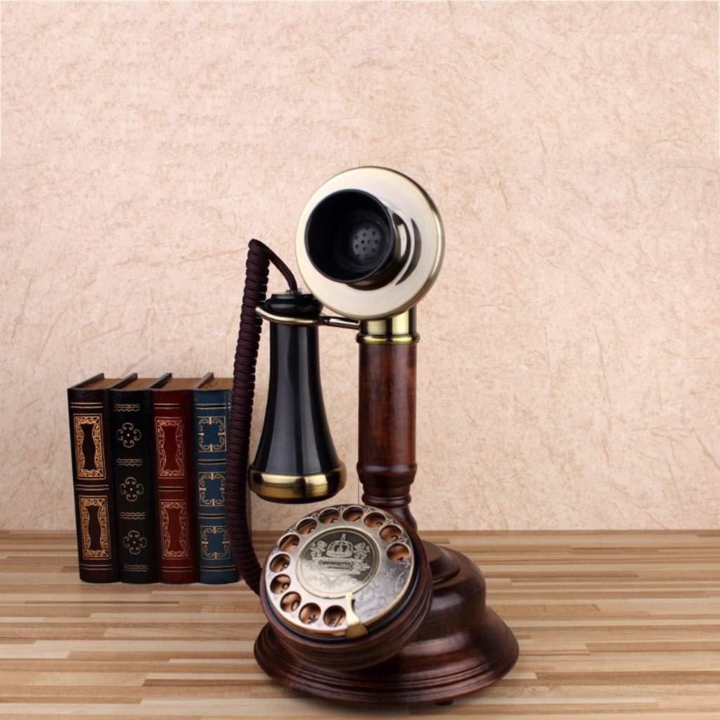 SMC Retro Roble Teléfono Fijo inalámbrico Tocadiscos Vintage ...