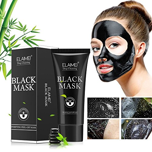 Blackhead Remover Mask Black Mask from Arishine, Activated Natural Charcoal Peel Off Mask, Deep Clean Purifying Pore and Oil Control, Acne Treatment Mask for Face and (Natural Results Acne Treatment)