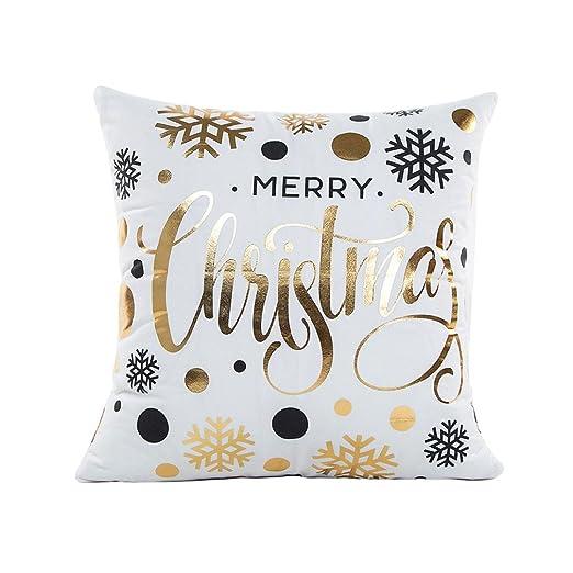 Feliz Navidad oro Foil impresión funda de almohada, friendg ...