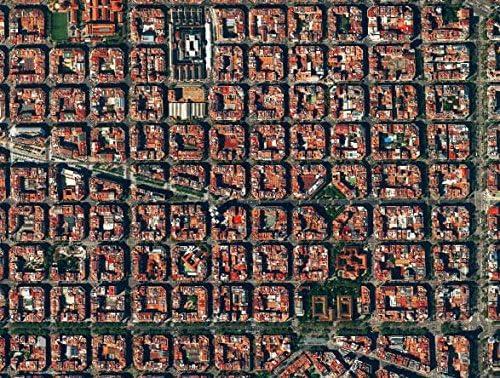 El Eixample, Barcelona, España, 500 Piece Awesome Aerial ...