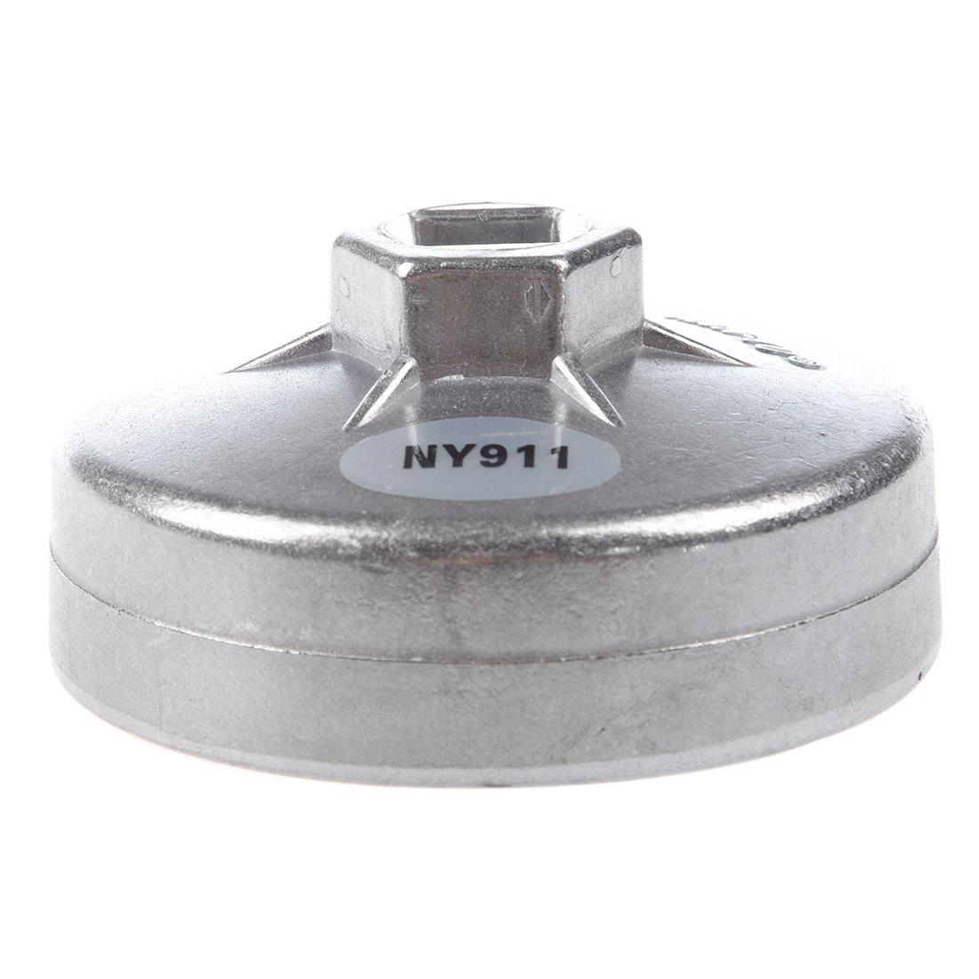 REFURBISHHOUSE Entrambe le parti sporgono il diametro interno 76mm 12 Flutes olio Filtro a cartuccia Cap Chiavi Strumenti Socket Remover