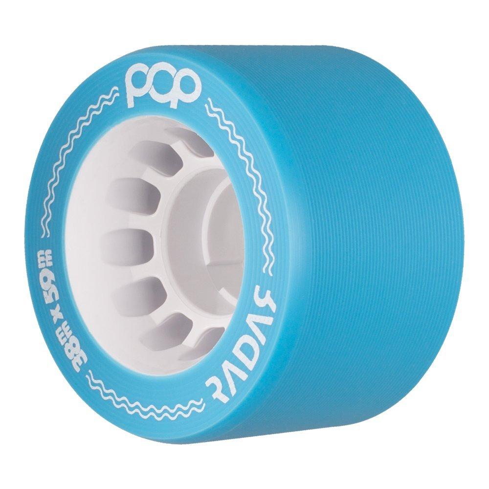 Radar Wheels - Pop - Quad Roller Skate Wheels - 4 Pack of 38mm x 59mm Wheels | Blue 91A