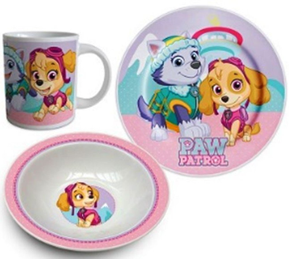 Paw Patrol Kids Lunch Set 3 Piece set of Mug, Cup and PLate PPB102155