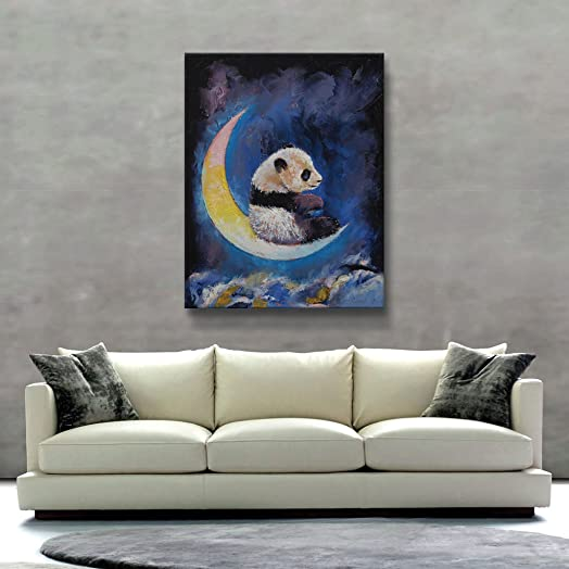 Art Wall Crescent Moon Unwrapped Canvas Art by Michael Creese, 36 by 28-Inch