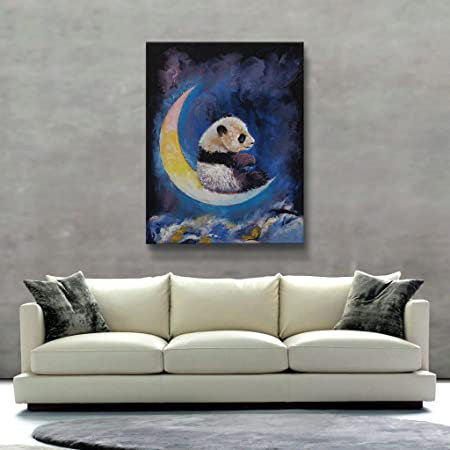 ArtWall Crescent Moon Unwrapped Canvas Art by Michael Creese, 36 by 28-Inch