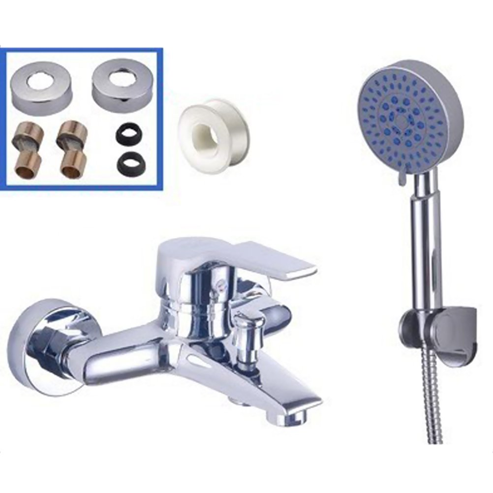 OUNONA Wall Mounted Water Faucet and Bathroom Hand Shower Modern Waterfall Faucet Set by OUNONA