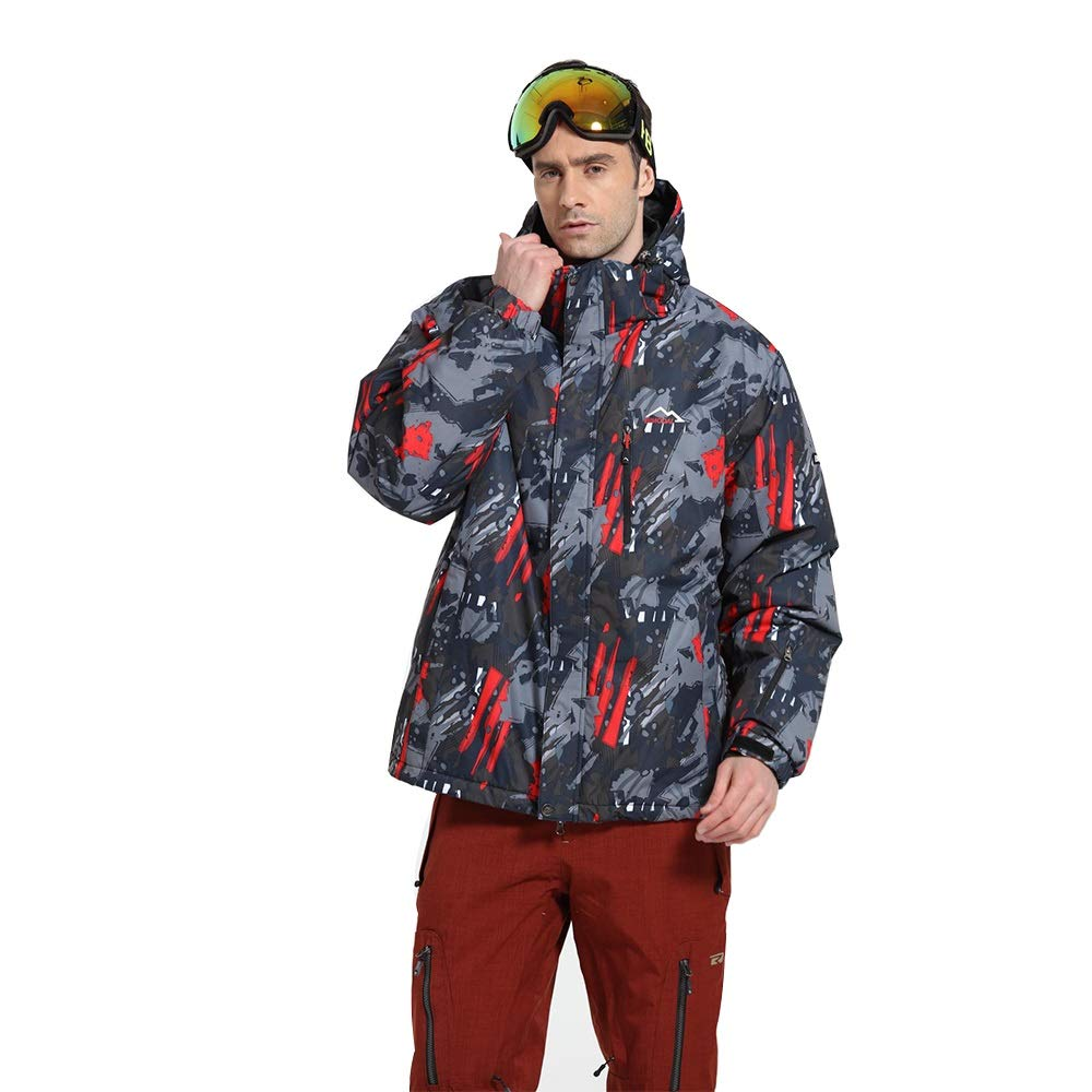 スキーウェア スノーボード ダブルボード屋外綿服スキースーツセットプロフェッショナル防風コールドボード (サイズ : XL)  X-Large