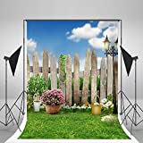 5 x 7ft Spring Photography Backdrops lawn Garden Backdrop Party Sunny Blue Sky Photographic Background for Children