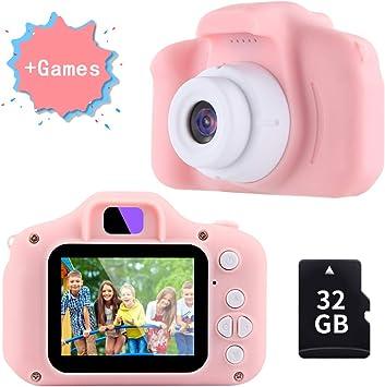 TekHome Cámara de Fotos para Niños con Juegos, 32GB Tarjeta SD y ...
