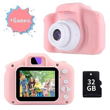 TekHome Cámara de Fotos para Niños con Juegos, 32GB Tarjeta ...