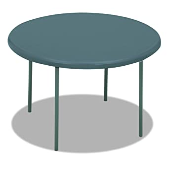Exceptionnel Iceberg ICE65247 IndestrucTable TOO 1200 Series Steel Legs Plastic Round  Folding Table, 600 Lbs Capacity