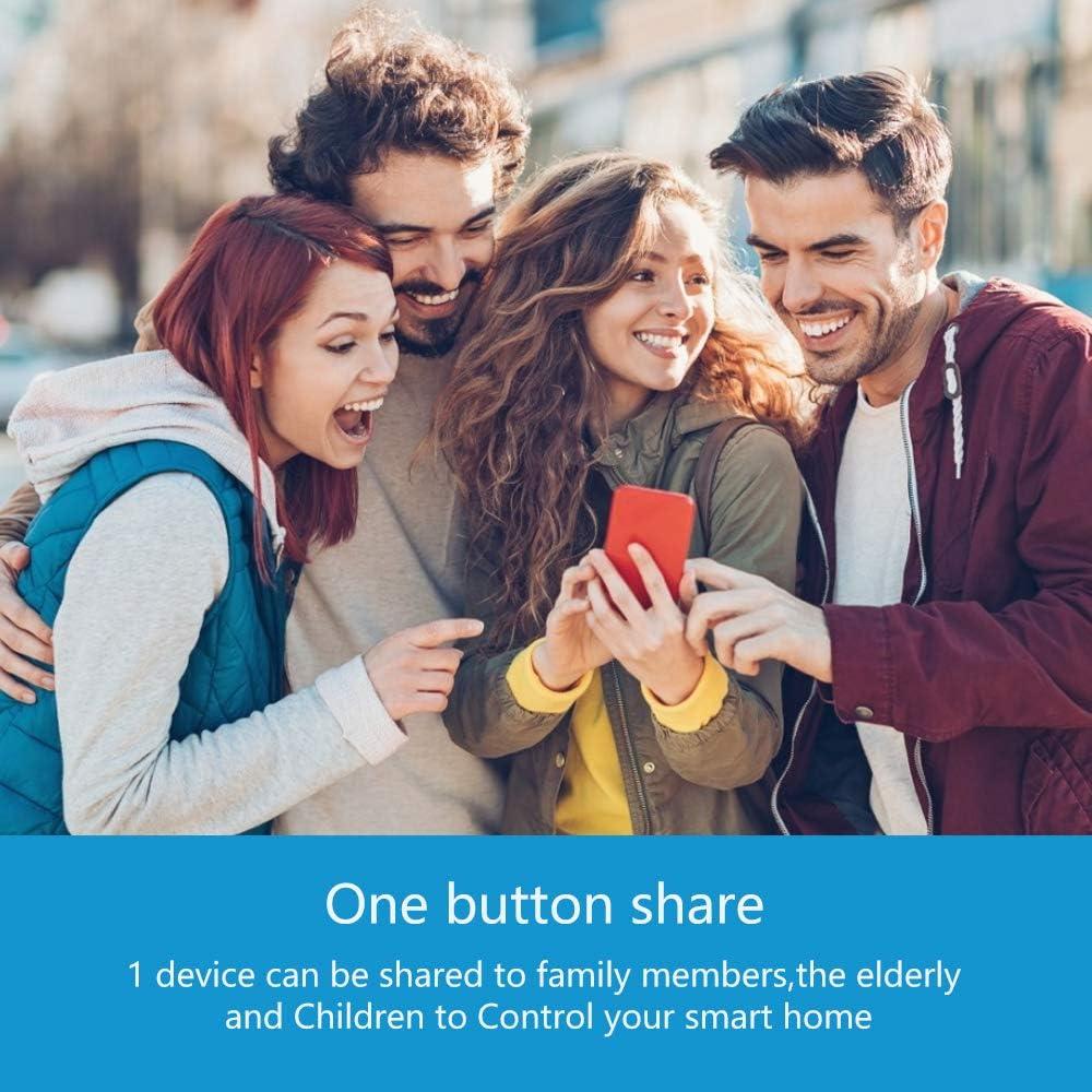 eMylo Smart WiFi Schalter Wireless Relais Fernbedienung Wlan Lichtschalter Modul Smart Home Automation Switch Timer Kompatibel mit Alexa Google Home /über iPhone Android 1 Pack