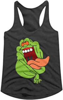 Amazon.com: Ghostbusters Classic Slime Ghost Logo Tank Top ...