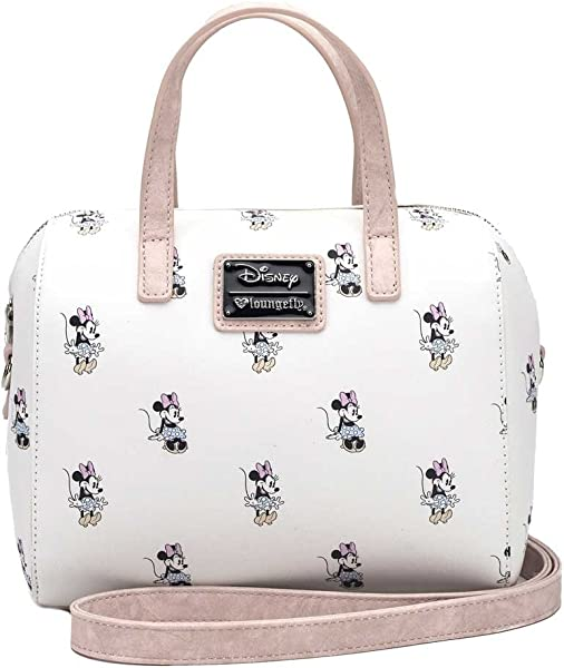 e330f872135 Disney Minnie Print Cream Small Satchel Handbag by Loungefly (Cream ...