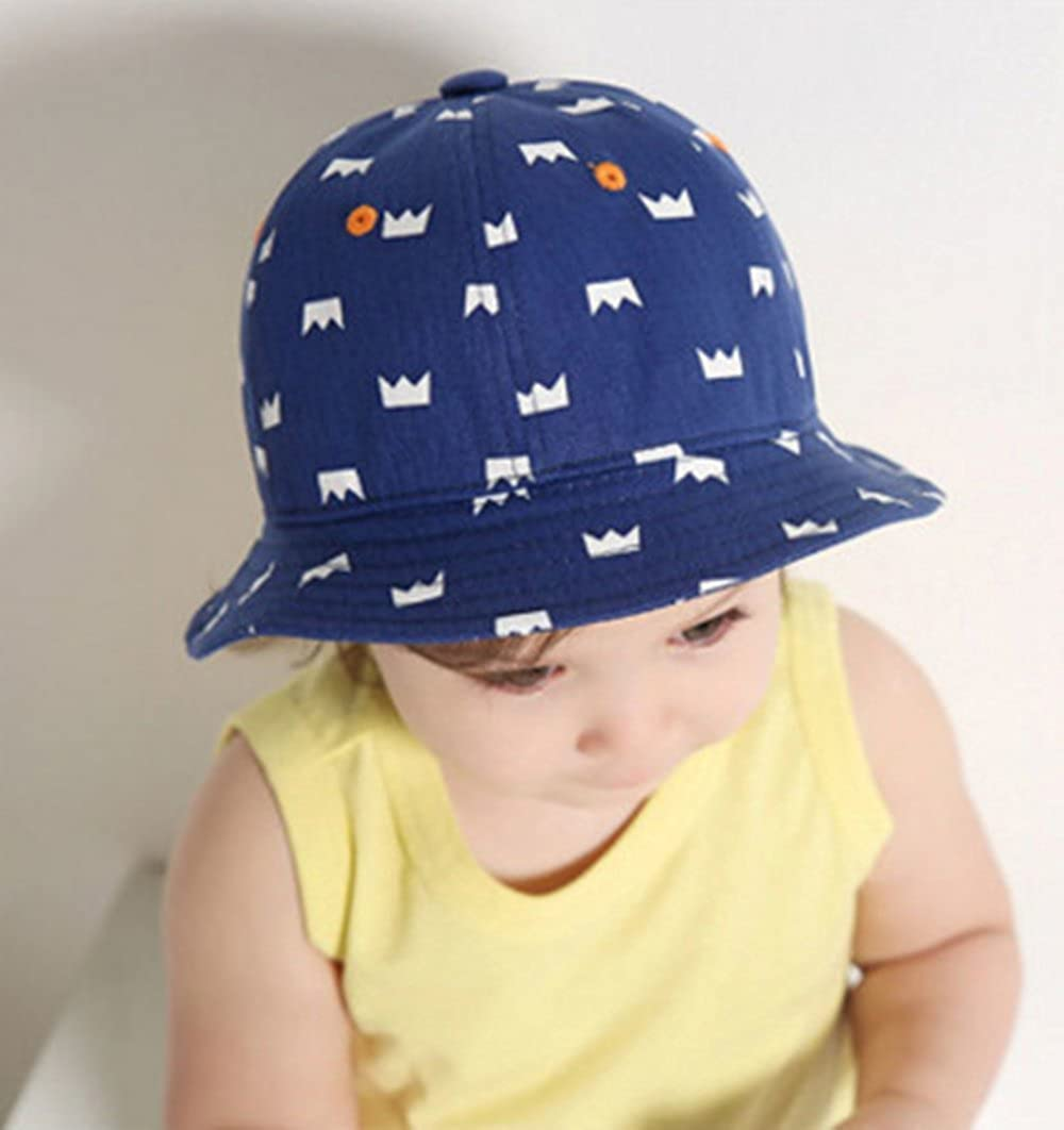 CL Unisex Baby Girls Floral Hollow Large Wide Brimmed Cotton Sun Protection Fisherman Toddler Hat Cap