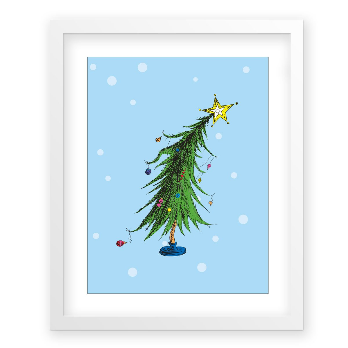 Amazon.com: The Who-ville Christmas Tree, snow - G2f, framed Dr ...