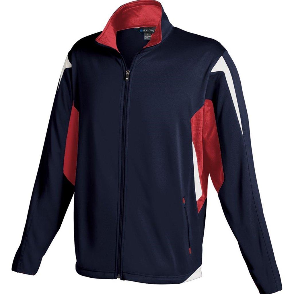 Holloway Youth Dedication Jacket (Small, Navy/Scarlet/White)