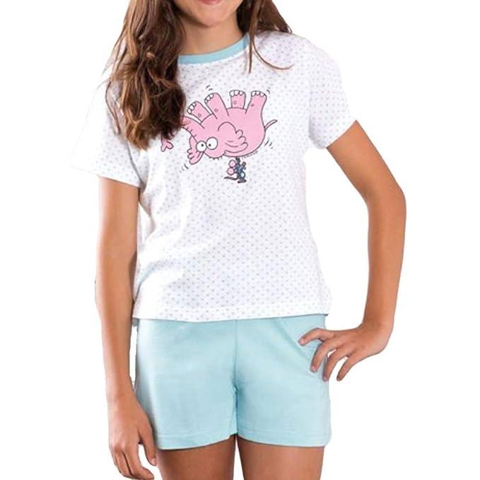 Kukuxumusu - Pijama NIÑA niñas Color: Celeste Talla: 8