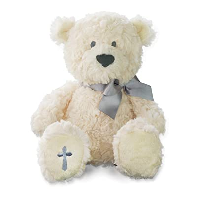 Nat and Jules The Lord's Prayer Bear With Ribbon, Cross Children's Plush Stuffed Animal: Baby