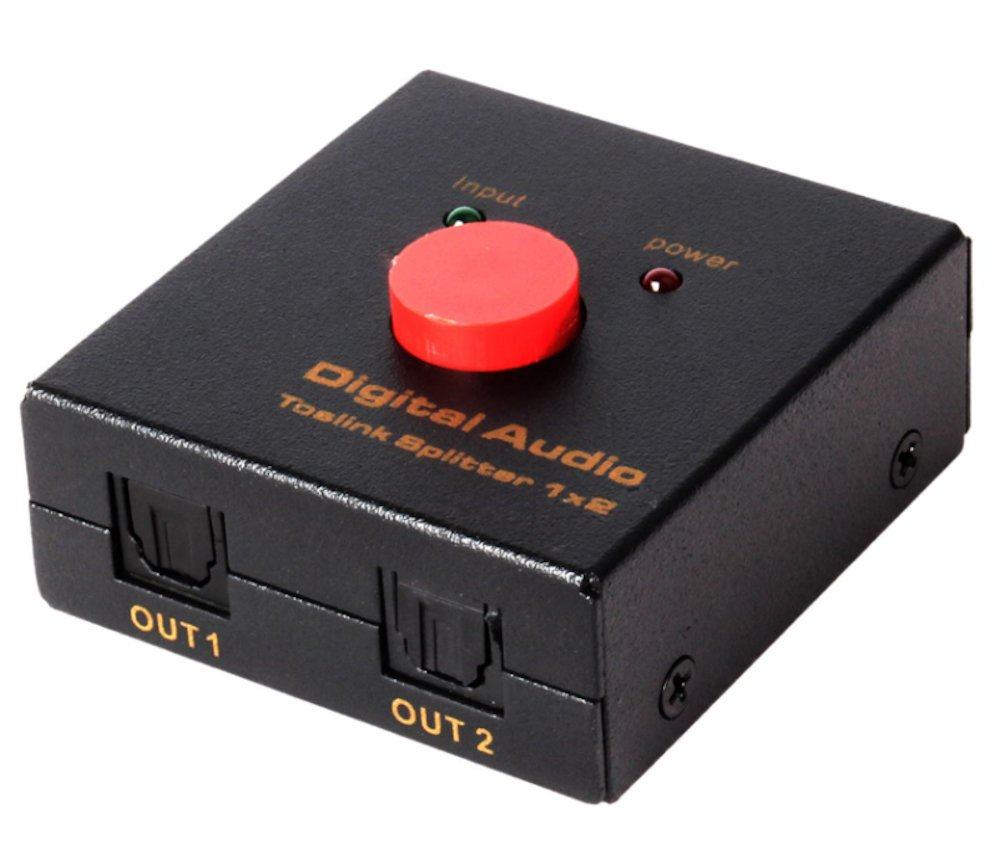 MyCableMart Toslink Digital Audio SPDIF Splitter, Powered/Amplified (1 in, 2 Out) My Cable Mart KE-ASP04M1
