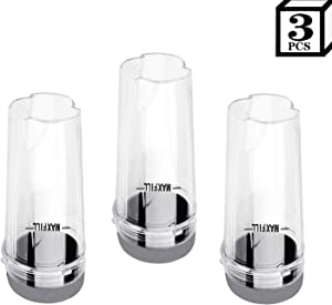 16oz Blender Cups for Ninja, Single Serve 16oz Cup and Sip Lid Set Fits Nutri Ninja BL660 BL770 BL780 (3 Sets)