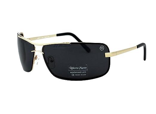 c118171c200 Roberto Marco Polarized Sunglasses for Drivers Grey Smoke Lenses. Gold  Colour Frame - Anti-