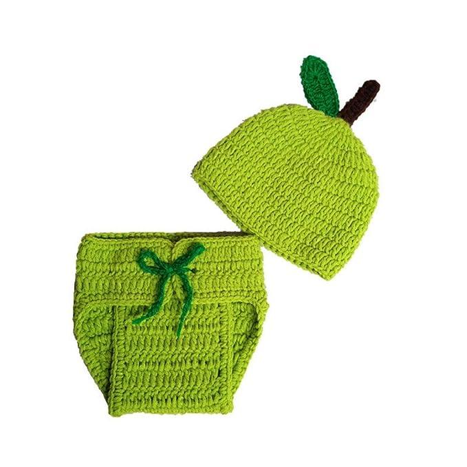 Amazon.com: digood bebé Apple Knit Crochet Ropa Traje Photo ...