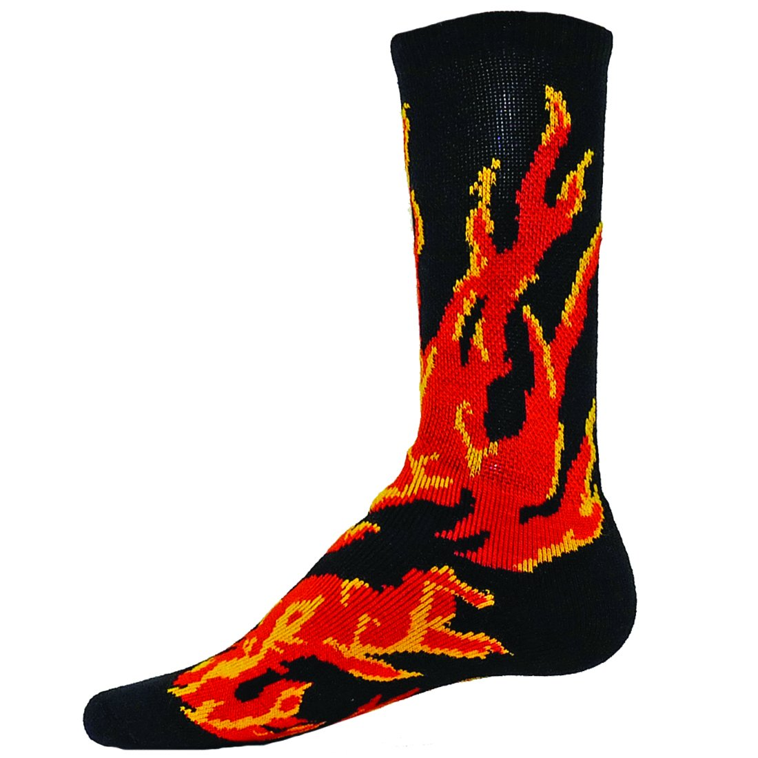 Red Lion Raging Flame Crew Sock