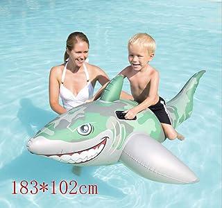DUBAOBAO Manija de la Correa del Paseo del tiburón del Agua, 183 * 102cm Cama Flotante de la balsa del Agua, Piscina de natación de la Playa sofá Inflable sofá de la Silla Flotante