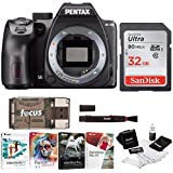 Pentax K-70 DSLR Camera (Body Only/Black) with 32GB SD Card Bundle