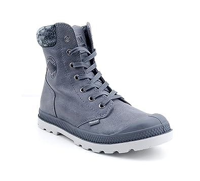 Palladium Pampa Knit LP F - French Metal Moonbeam (Grau) - Boots (39 ... 5b6d47a78ea5