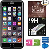 "iPhone 6 Screen Protector [Set of 2] – 4.7"" – Ballistic Tempered Glass – Maximum Impact Protection - 99.99% Crystal Clear HD Glass - No Bubbles – Cell Phone DIY® Protectors Kit for Apple iPhone 6S & 6"
