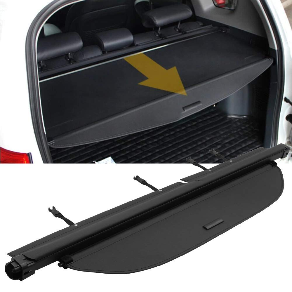 IKON MOTORSPORTS Cargo Cover Security Rear Trunk Cover Security Retractable Shield Fits Toyota Rav4 2013-2016