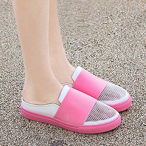 Santimon Anti-dérapant Pantoufles Pour Hommes Respirant Maille Chaussures Plage Aqua Marche Côte Mule Rose