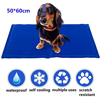 SOFTEEN alfombra de enfriamiento para perros mascotas gatos 50×60 cm, esterilla refrescante para