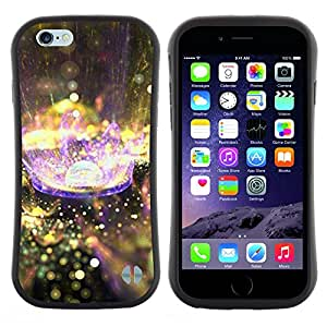 Hypernova Slim Fit Dual Barniz Protector Caso Case Funda Para Apple (4.7 inches!!!) iPhone 6 / 6S (4.7 INCH) [Planète Goutte Purple Rain Nature]