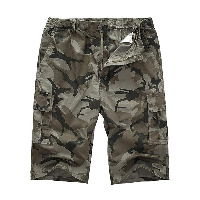 ESAILQ-Bermudas Cargo Hombres Pantalones Cortos Leisure Pantalon chandals Hombre Pantalon Trekking Hombre Pantalon Camuflaje Hombre: Amazon.es: Ropa y ...