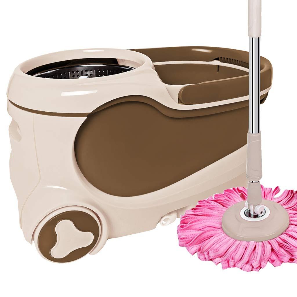 フロアモップワイパー 回転モップ、360°回転モップヘッド、ハンドフリー洗濯、洗濯と乾燥、(マイクロファイバー) (色 : A) B07L621F79 A
