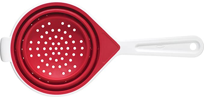 "Chef'n Silicone SleekStor™ Collapsible Small 6"" Colander,Red ,Pack Of 1 Kitchen Tools at amazon"