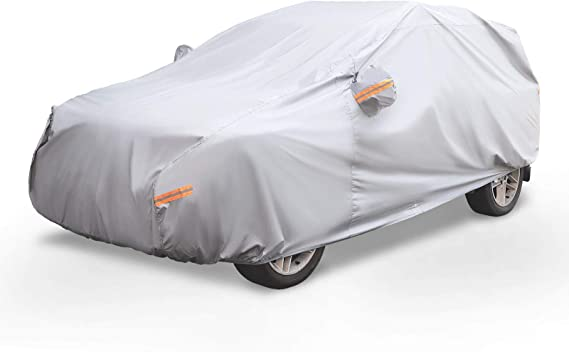 NEVERLAND SUV Car Covers Four Layers Waterproof Outdoor Sun UV Pretection Universal Storage Car Cover