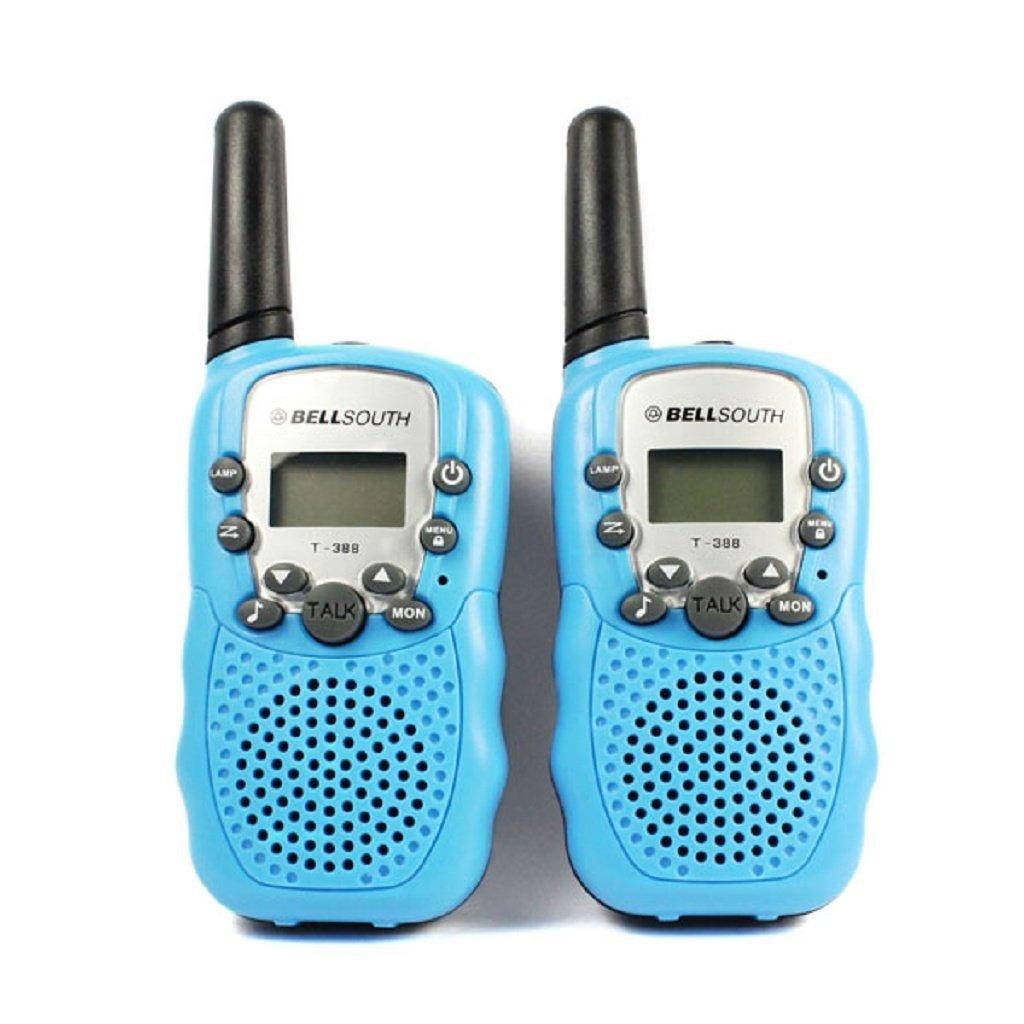 Coper 2pcs Portable Wireless Walkie-talkie Set Eight Channel 2 Way Radio Intercom 5KM Travel Blue
